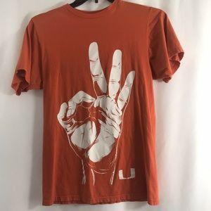 University of Miami The U Orange T-Shirt Mens M